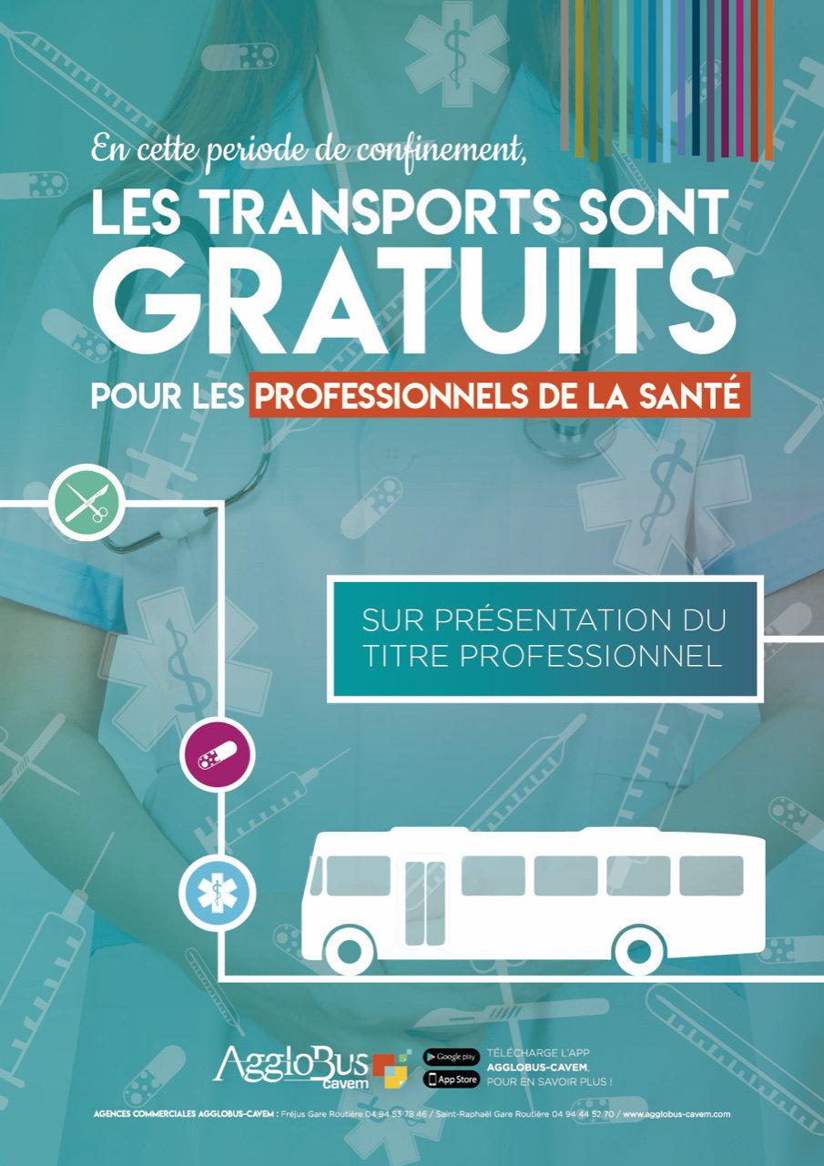 Transports gratuits pour les personnels de la santé