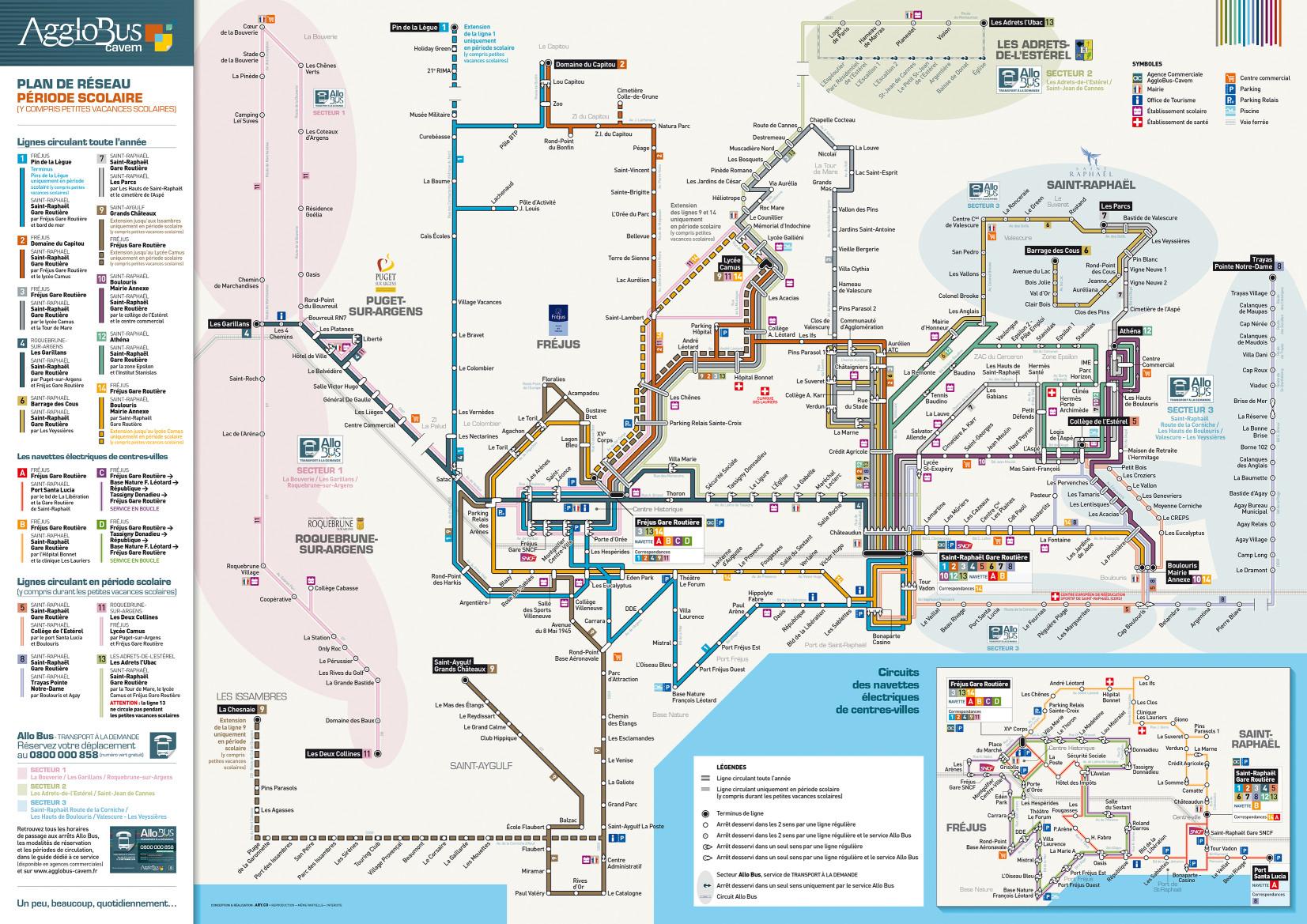plan du réseau 2017