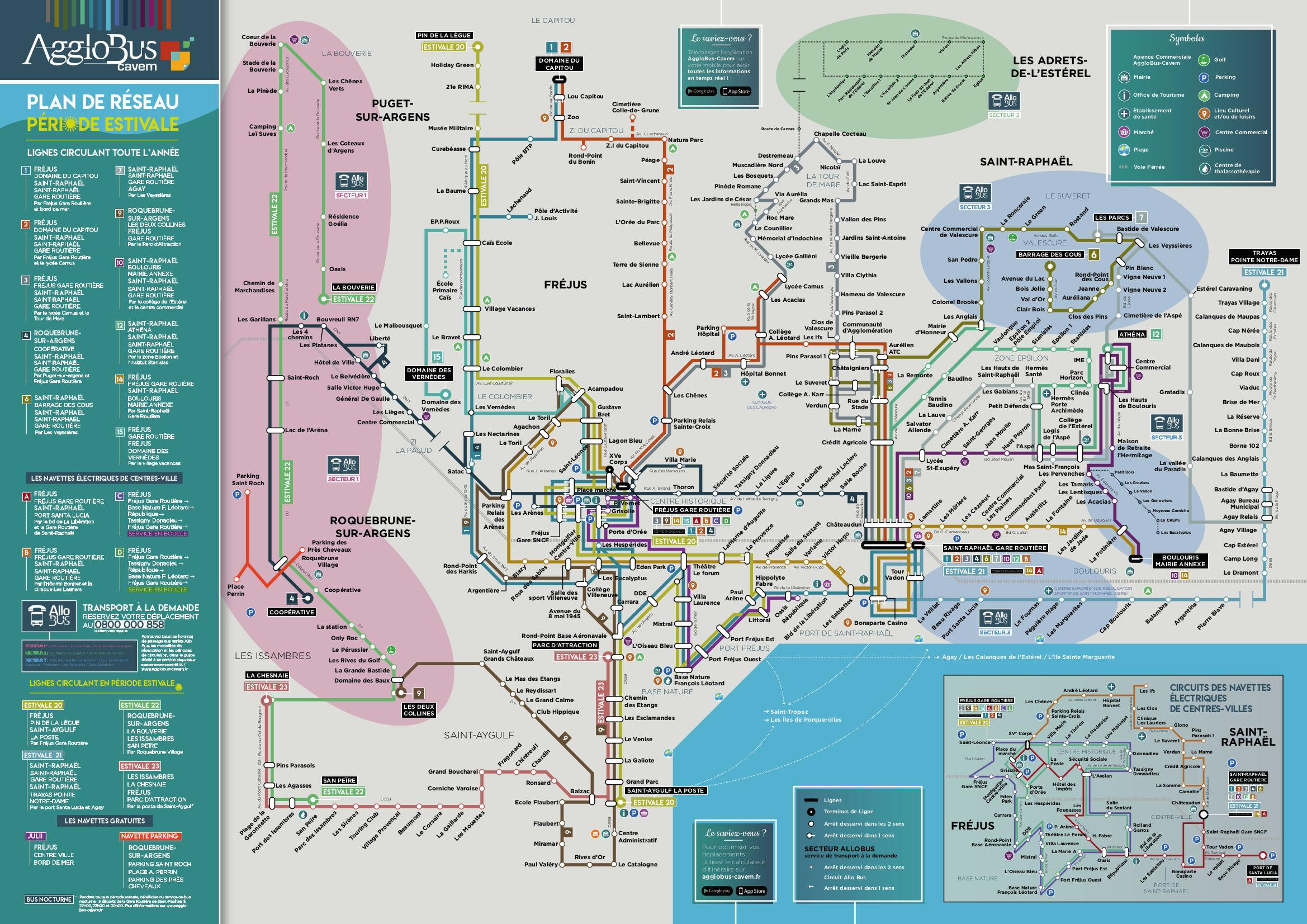 plan du réseau Agglobus